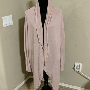 Leith Pink Long Cardigan